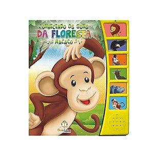Livro Sonoro Conhecendo Os Sons da Floresta Macaco - Blu Editora