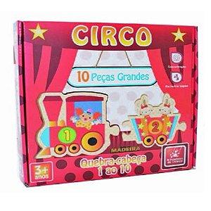 Quebra-cabeça Trem 1 ao 10 Circo - Brincadeira de Criança