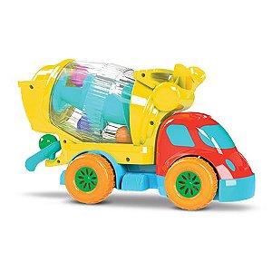 Caminhão Betoneira com Bolinhas Robustus Kids - Divertoys