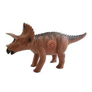 Dinossauro Triceratopo Sonoro - Faz Som de Dinossauro - Adijomar