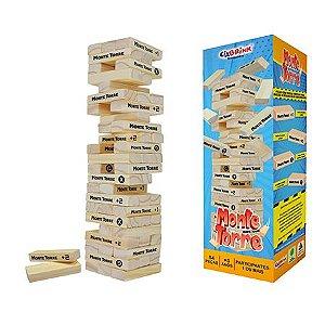 Monte Torre - Brinquedo de Madeira - 54 peças - Caixa Cartonada - Ciabrink