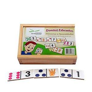 Dominó Educativo Números e Quantidades com 28 peças