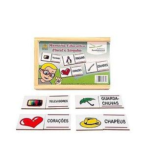 Memória Educativa Plural e Singular com 40 peças em mdf