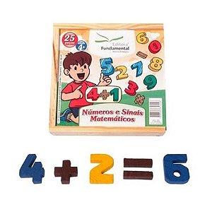 Números e Sinais Matemáticos com 25 peças