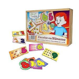 Quebra-cabeça Números e Quantidades do 1 ao 10 - Encaixe os Números