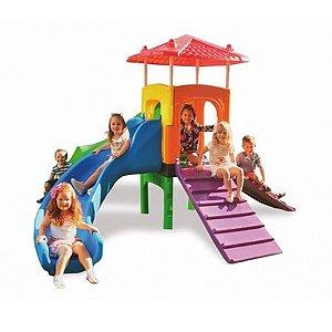 Playground Infantil Fun Play com Escorregador e Túnel - Xalingo