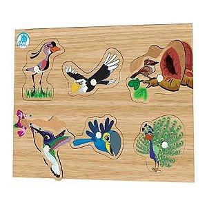 Quebra-cabeça com Pinos Aves - Simque