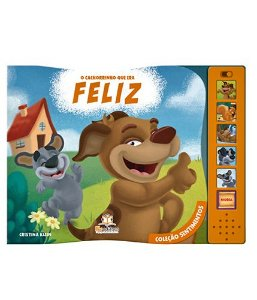 O Cachorrinho Que Era Feliz Livro Sonoro Coleção Sentimentos - Blu Editora