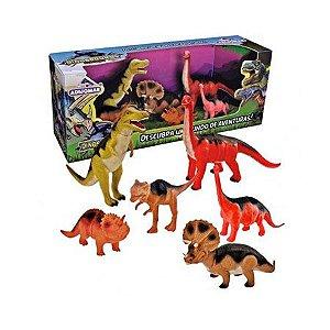 Dinossauros Evolução com 6 Animais - Adijomar