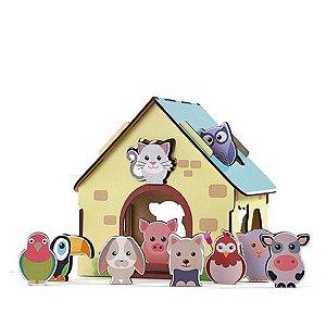Passa Figuras Animais da Fazenda - Babebi