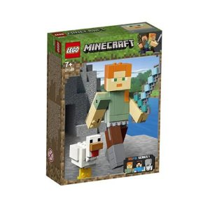 Lego Minecraft BigFig Alex com galinha
