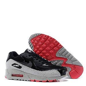 Tênis Nike Air Max 90 Preto / Cinza / Laranja