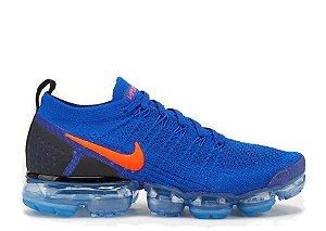 Tênis Nike Air VaporMax Flyknit 2 Azul / Laranja