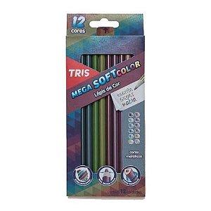 Kit Lápis de Cor Soft Color Metalizado TRIS