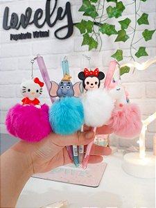Caneta Hello, Minnie, Dumbo e Unicórnio Pompom