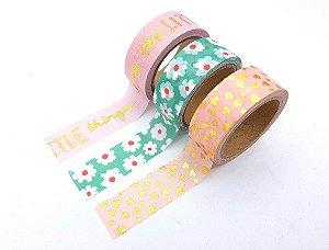 Kit Washi Tape Luxo Florzinha HEMA