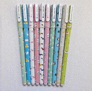 Kit Canetas Coloridas Bichinhos