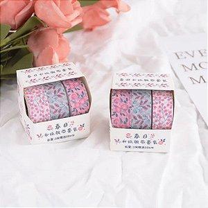 Kit 3 Washi Tapes Floral