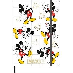 Caderneta Mickey Dourada
