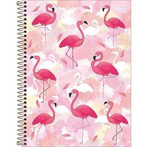 Caderno Flamingo Metalizado Tilibra