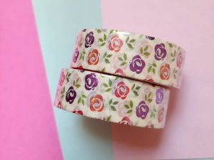 Washi Tape Metalizada Floral