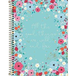 Caderno Floral Tilibra
