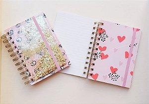 Caderno Planner Glitter Hema