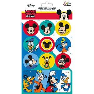 Cartela de adesivos Metalizada Disney