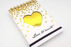 Caderno Luxo Dourado