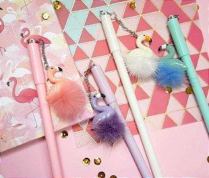 Caneta Flamingo Pompom