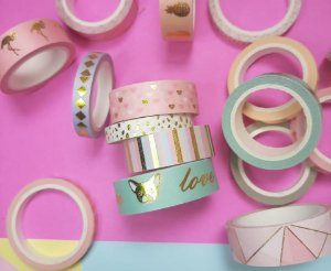 Kit Washi Tape Luxo Cores