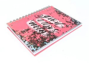 Caderno Glitter Grande Novas Estampas