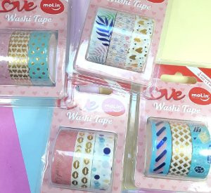 Kit Trio Washi Tape Metalizadas