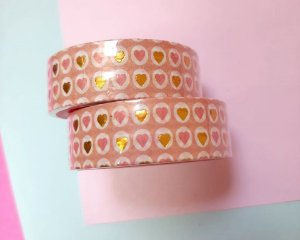 Washi Tape Metalizada Love