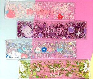Régua Com Glitter Novas Cores