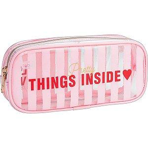 Estojo Love Pink Grande e Médio