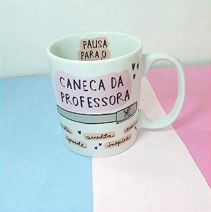 Caneca Estudante e Professora