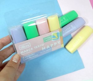 Kit Mini Marca Texto Happy