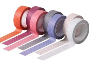 Washi Tape Grid Novas Cores