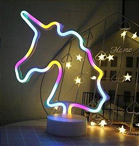 Luminária LED Unicórnio e Gatinho