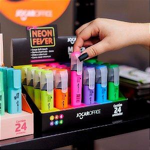 Marca Texto Neon Jocar Office (Unitário e Kit com 6)
