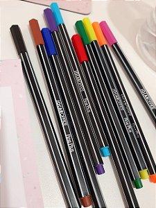 Kit Canetas Coloridas Ponta Fininha (Tipo Stabilo)