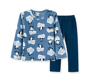Conjunto Blusa + Calça Soft Infantil Pinguim Pingo Lelê 9057