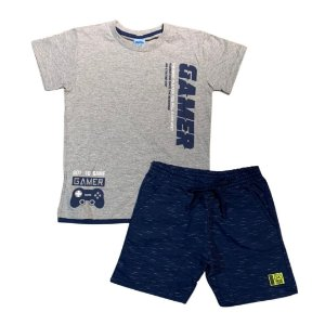 Conjunto Infantil Camiseta + Short Moletinho Gamer Serelepe 6828