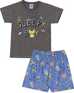 Pijama Curto Infantil Tigre (Brilha no Escuro) Serelepe 6843