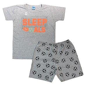 Pijama Curto Infantil Futebol (Brilha no Escuro) Serelepe 6844