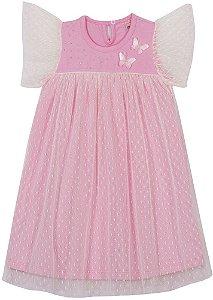 Vestido Infantil Bailarina c/ Tule Serelepe 6677