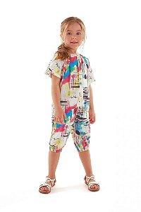 Conj Bata e Calça Jogger Colorida Up Baby 43383