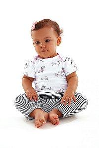 Kit 02 Bodies e Calça Cachorrinho Up Baby 43493 Rosa
