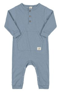 Macacão Ribana Nature Infantil Up Baby 43279 Azul